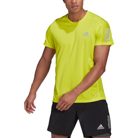 adidas OWN The Run SS Tee Men acid yellow